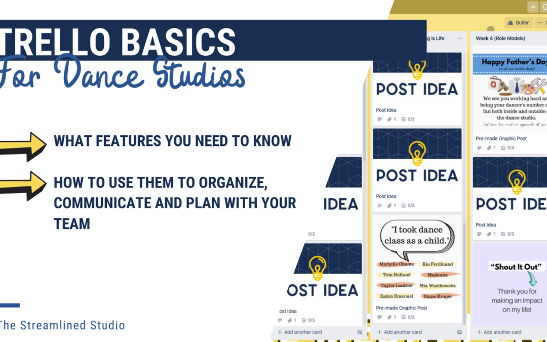 Trello Basics for Dance Studios